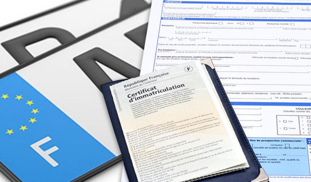 Carte grise documents à fournir