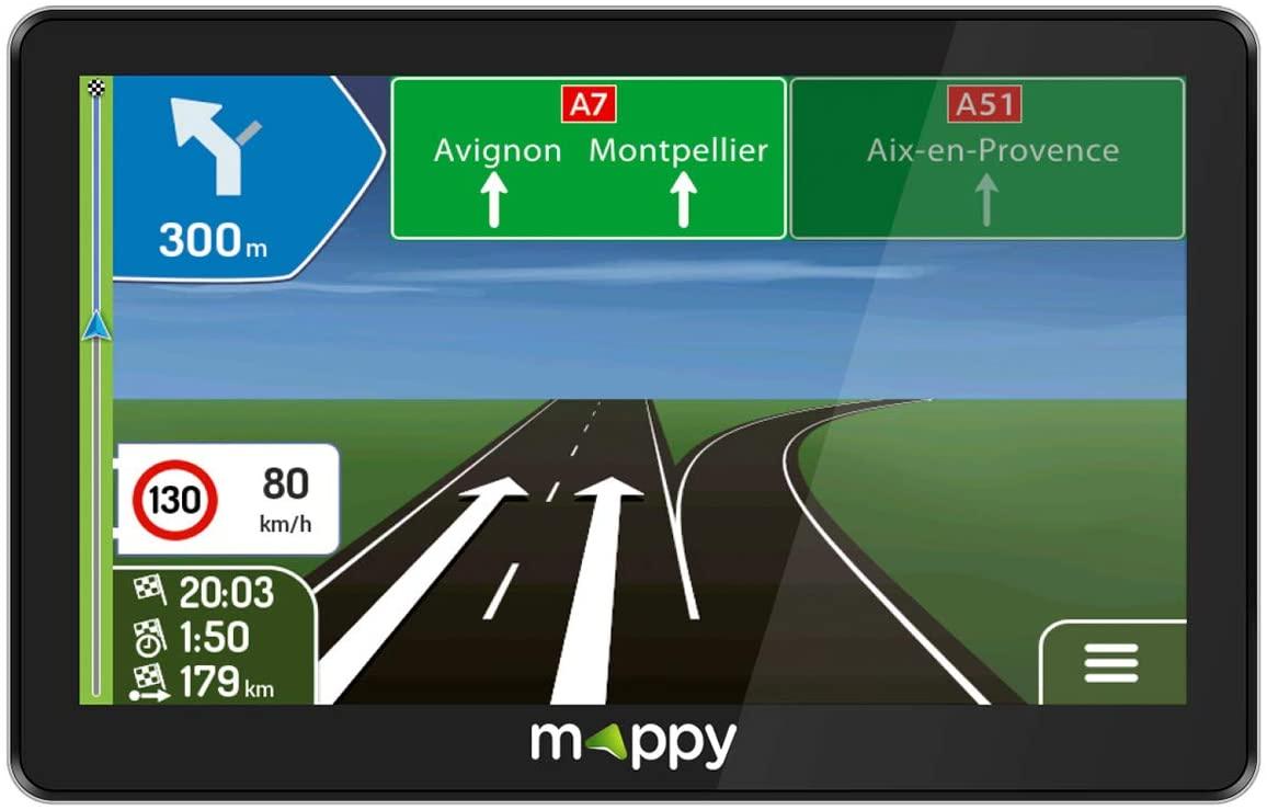 MAPPY ULTI X755 TRUCK GPS dédié camion 7'' carte à vie et POI dédiés